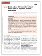 Publication: Clinical evidence that treatment  of metabolic acidosis slows the progression  of chronic kidney disease-Goraya N, Wesson DE (2019)